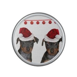 Pinschers miniatura del navidad altavoz