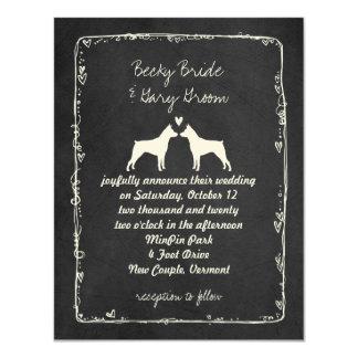 Pinschers miniatura que casan la invitación