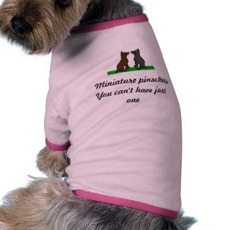 Pinschers miniatura camisa de mascota
