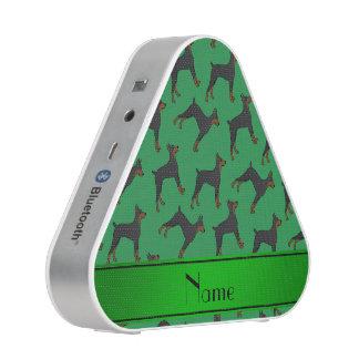 Pinschers verdes conocidos personalizados del altavoz bluetooth