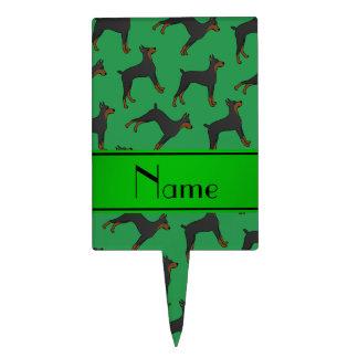 Pinschers verdes conocidos personalizados del figura para tarta