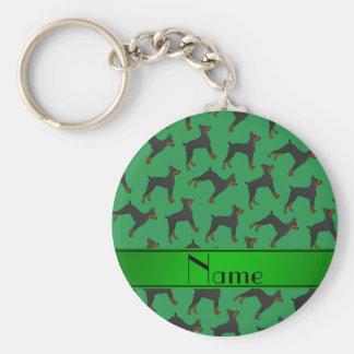 Pinschers verdes conocidos personalizados del llavero redondo tipo pin