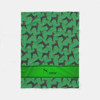 Pinschers verdes conocidos personalizados del manta polar