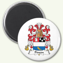 Pinson Family Crest Magnet