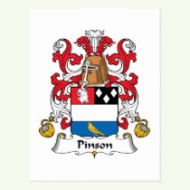 Pinson Family Crest Postcard