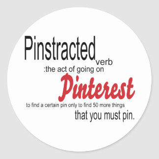 pinstracted classic round sticker