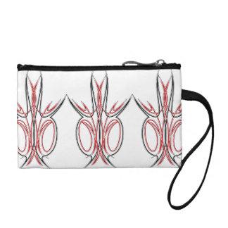 Pinstripe 2 coin purse