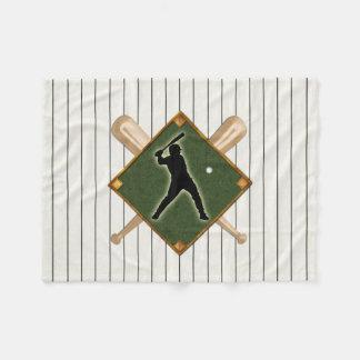 Pinstripe Baseball Logo Batter Fleece Blanket