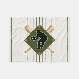 Pinstripe Baseball Logo Fielder 2 Fleece Blanket