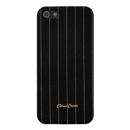 Pinstripe Black Pattern Savvy Case For iPhone 5