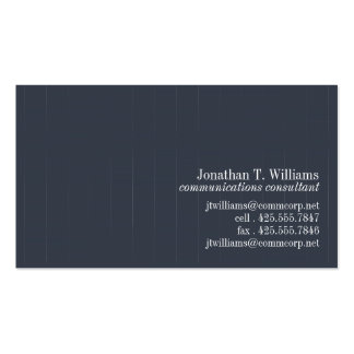 Pinstripe Business Card