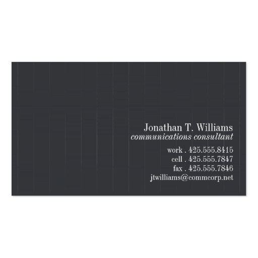 Pinstripe Business Card