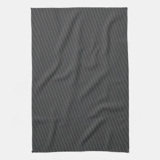 Elegant Pinstripe Grey Towel