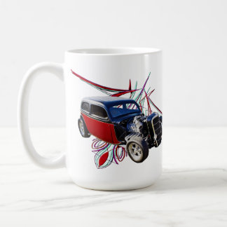 Pinstripe Hot Rod Coffee Mug