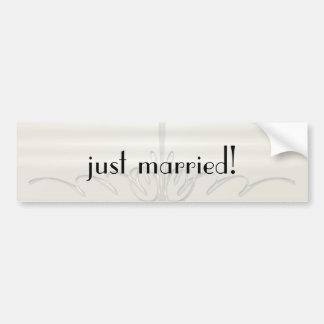 Pinstripe Illusion Wedding Bumper Sticker