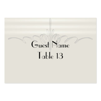 Pinstripe Illusion Wedding Table Number card Large Business Card