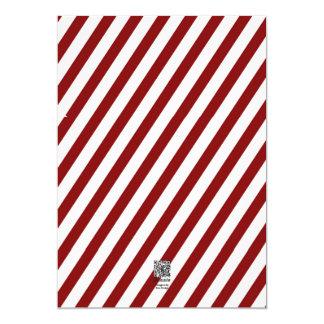 Pinstripe Merry Christmas 2014 Customized Invitation Card