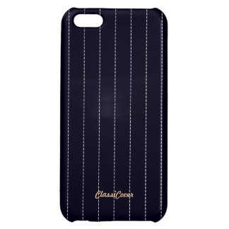 Pinstripe Navy Blue Pattern Savvy iPhone 5C Covers