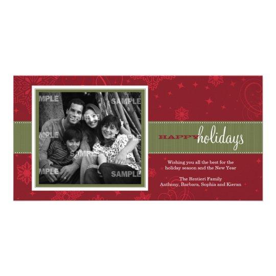 Pinstripe Ribbon Holiday Photo Card