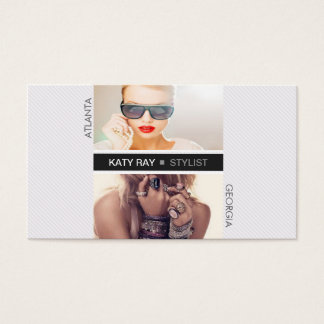 Pinstripe Stylist Business Card