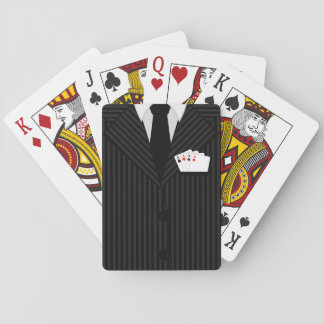 Pinstripe Suit and Tie Casino Poker Playing Cards