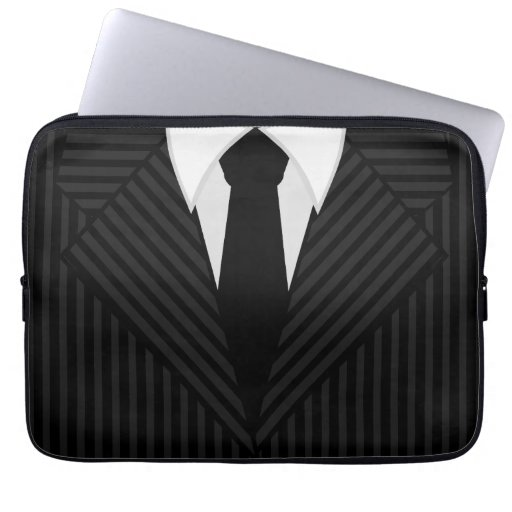 Pinstripe Suit and Tie Cool 13 Inch Laptop Sleeves Laptop Computer Sleeve