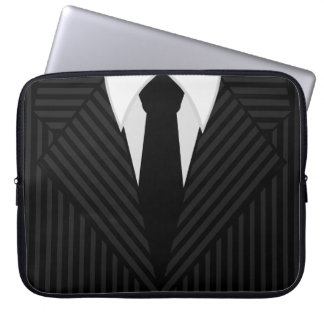 Pinstripe Suit and Tie Cool 15 Inch Laptop Sleeves