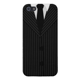 Pinstripe Suit and Tie Savvy iPhone 5 Glossy Cases
