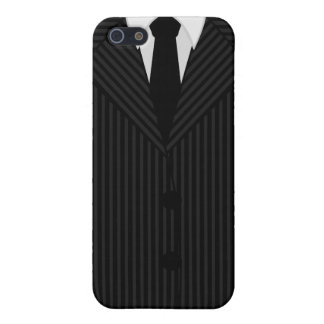 Pinstripe Suit and Tie Savvy iPhone 5 Matte Cases