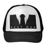 Pinstripe Suit Bachelor Party Best Man Hat or Cap Trucker Hat