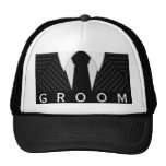 Pinstripe Suit Bachelor Party Groom Hat or Cap Mesh Hats