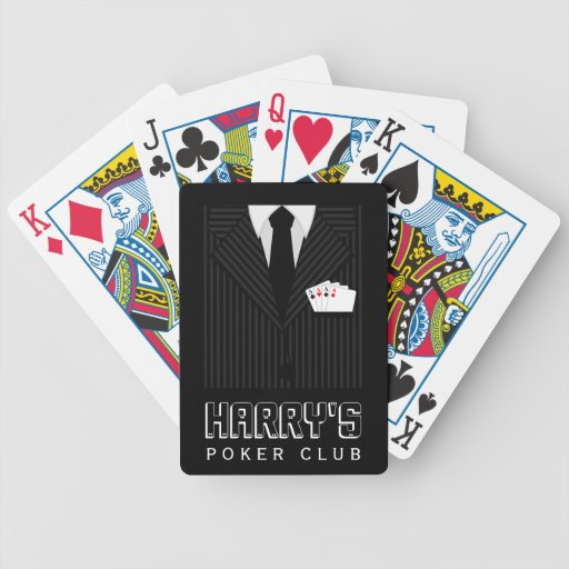 Pinstripe Suit Bicycle® Casino Poker Club Cards Bicycle Playing Cards
