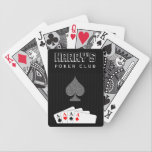 "Pinstripe Suit Casino Poker Club Bicycle&#174; Cards<br><div class=""desc"">&#169; Sunny Mars Designs - Pinstripe Suit: Poker Club Aces Bicycle&#174; Playing Cards - Cool stylish casino quality semi-gloss custom aces poker club playing cards with a masculine man&#39;s business black and gray pin stripe suit with a set of aces in the pocket. Perfect for a boys poker night or...</div>"