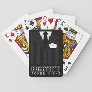Pinstripe Suit Classic Poker Night Playing Cards