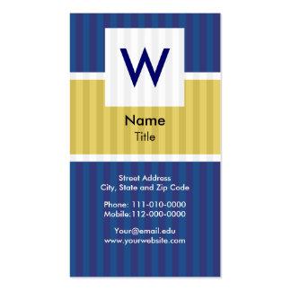 Pinstripe Suit - Modern Monogram Business Card