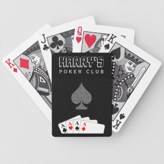 Pinstripe Suit Poker Club Bicycle® Playing Cards