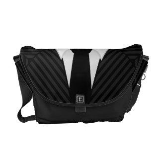 Pinstripe Suit Tie Medium Rickshaw Messenger Bags