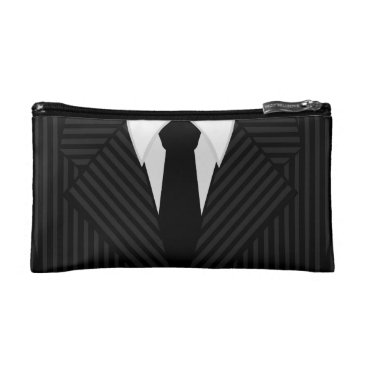 Professional Business Pinstripe Suit Tie Mens Small Wash or Toiletry Bag