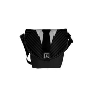 Professional Business Pinstripe Suit Tie Small Rickshaw Messenger Bags