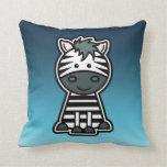Pinstripe Zebra Sticker Pillows