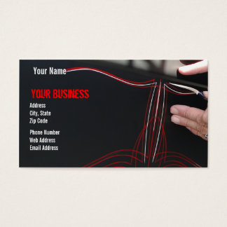 Pinstriped Business Card