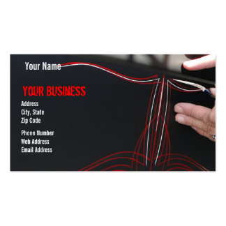Pinstriped Double-Sided Standard Business Cards (Pack Of 100)
