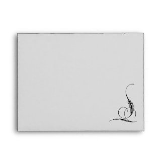 Pinstriped Gray Damask Goth Wedding Envelope