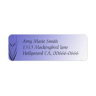 Pinstriped Purple Fantasy Address Label