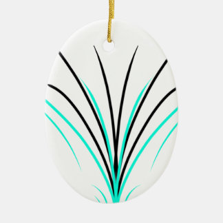 Pinstripes Ceramic Ornament