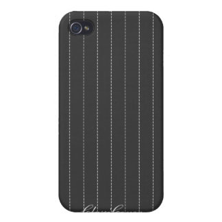 Pinstripes Classic Gray Pern  iPhone 4/4S Cover