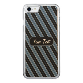 Pinstripes diagonal stripes text carved iPhone 7 case