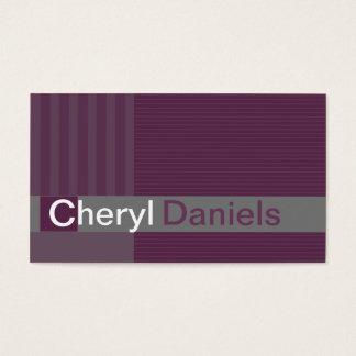 Pinstripes Monogram Initials Web Designer purple1 Business Card