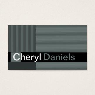 Pinstripes Monogram Initials Web Designer smoke Business Card