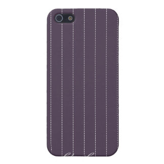 Pinstripes Purple Pattern iPhone 4 Cover